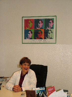 Dr. Caporello at her office