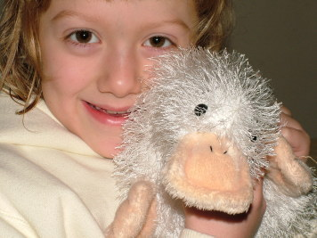 "Megan and her Webkinz ""Henry"""